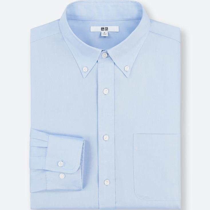 Men Easy Care Regular-Fit Long-Sleeve Shirt (Xl), Blue, Large
