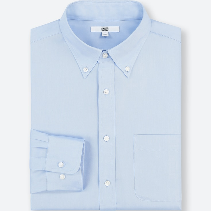 MEN EASY CARE REGULAR-FIT LONG-SLEEVE SHIRT (3XL BODY SIZE), BLUE, large
