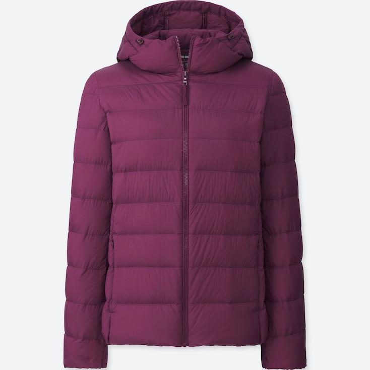 Women Ultra Light Down Parka, Purple, Large