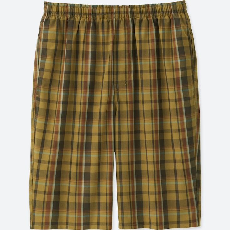 MEN LIGHT COTTON EASY SHORTS, YELLOW, large