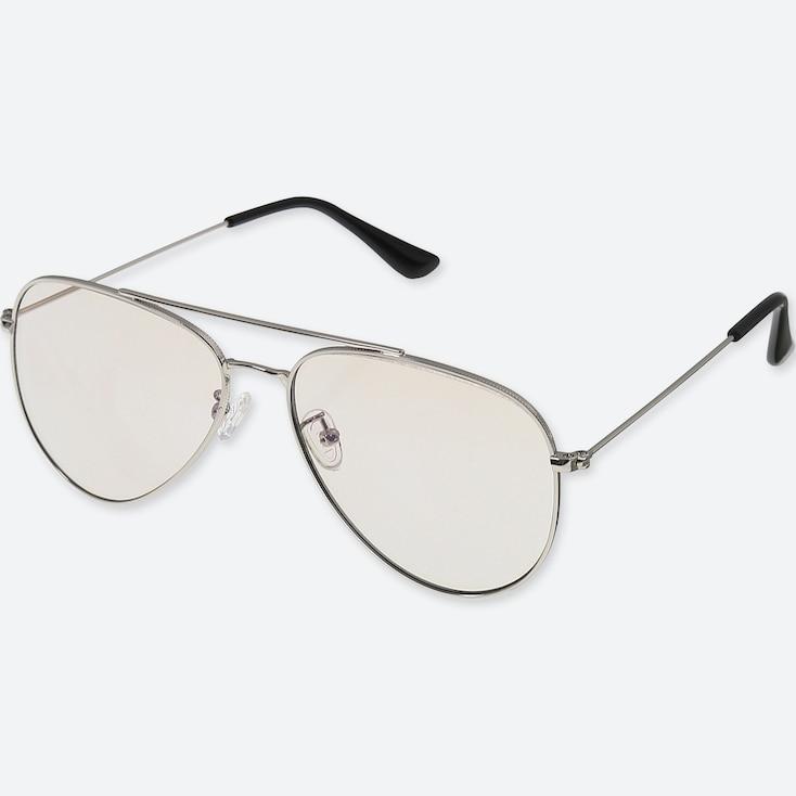 Aviator Sunglasses, Light Gray, Large