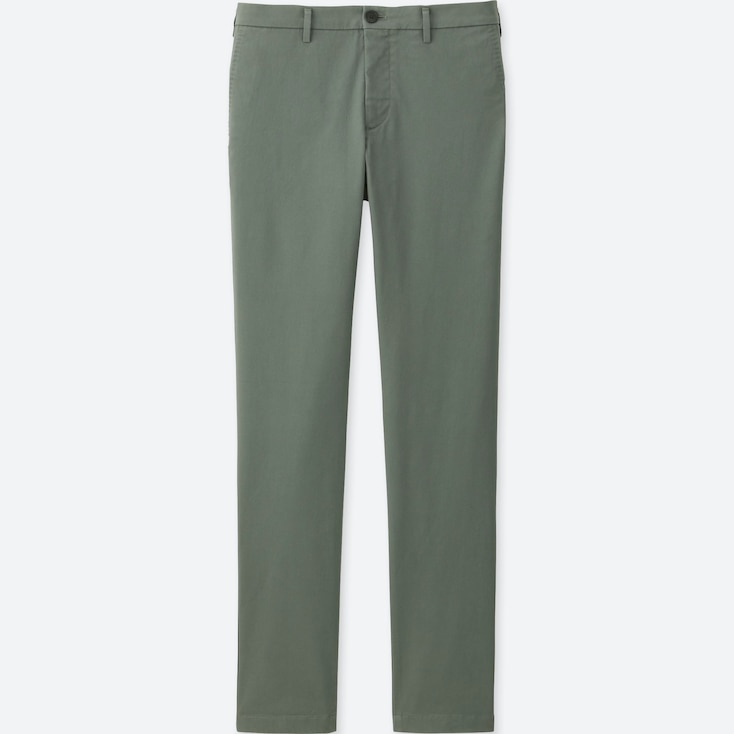 MEN SLIM-FIT CHINO FLAT FRONT PANTS, OLIVE, large