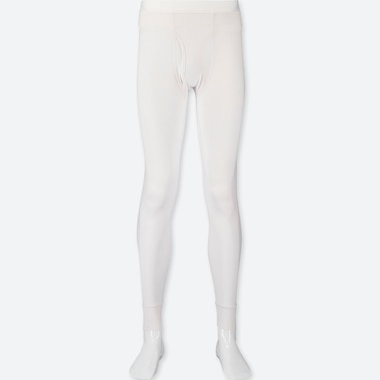 Men Heattech Long Johns, White, Medium