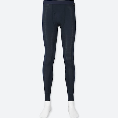 Men Heattech Long Johns, Navy, Medium