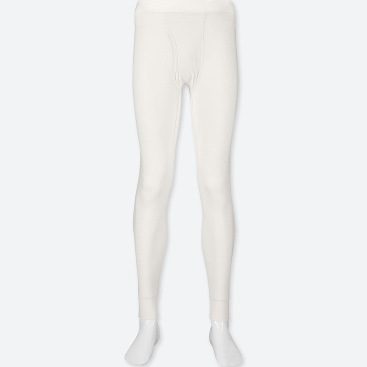 MEN HEATTECH EXTRA WARM LONG JOHNS, WHITE, large
