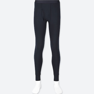 Men Heattech Extra Warm Long Johns, Navy, Medium