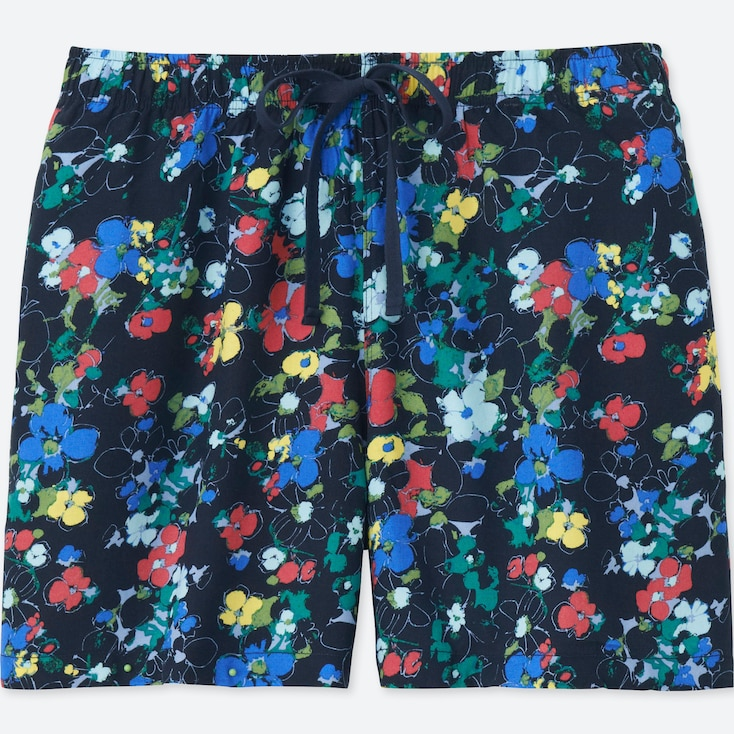 WOMEN FLORAL RELACO SHORTS, NAVY, large