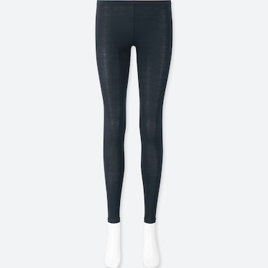 WOMEN HEATTECH LEGGINGS, NAVY, medium