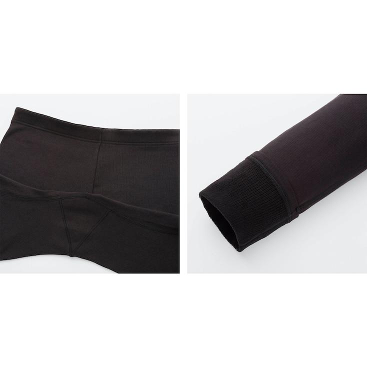 Women Heattech Ultra Warm Leggings, Navy, Large