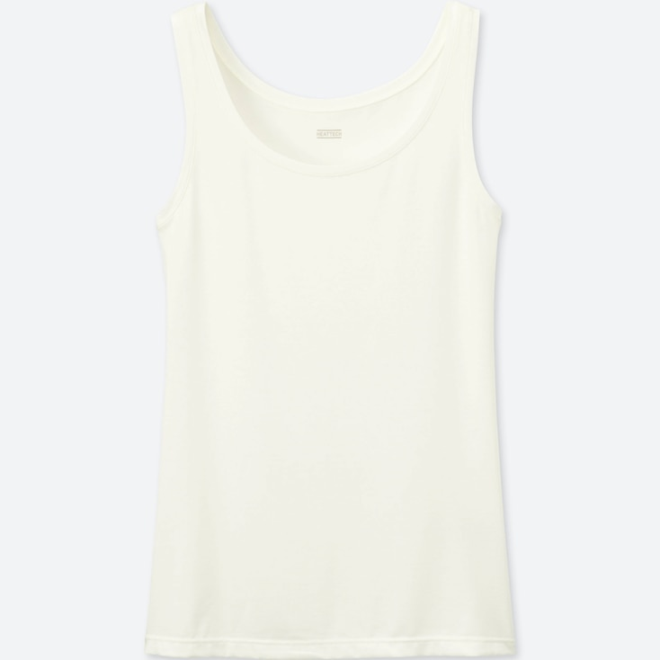 WOMEN HEATTECH SLEEVELESS TOP (ONLINE EXCLUSIVE), OFF WHITE, large