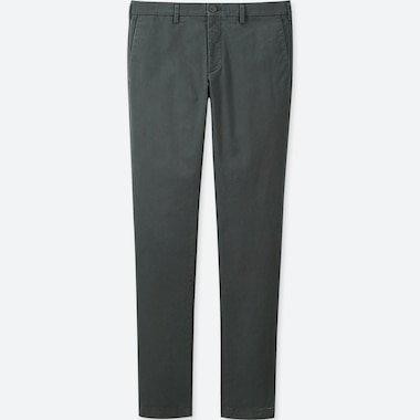 MEN SLIM FIT FLAT FRONT CHINO TROUSERS
