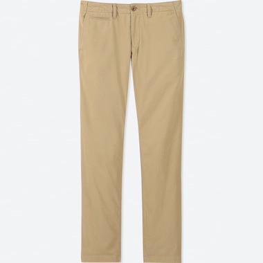 MEN REGULAR FIT VINTAGE CHINO TROUSERS (L34)