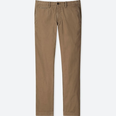 MEN VINTAGE REGULAR-FIT CHINO FLAT-FRONT PANTS, BROWN, medium