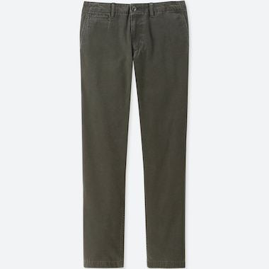 MEN VINTAGE REGULAR-FIT CHINO FLAT-FRONT PANTS, DARK GREEN, medium