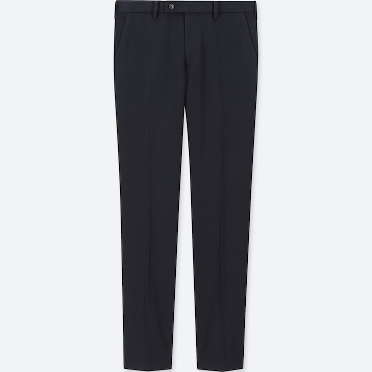MEN HEATTECH STRETCH SLIM-FIT PANTS, NAVY, large