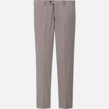 MEN WOOL SLIM FIT STRETCH SUIT TROUSERS (L34)