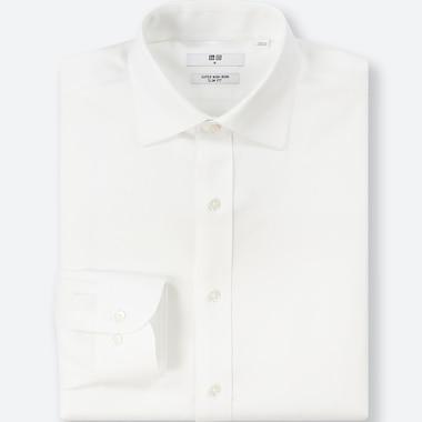 MEN SUPER NON-IRON SLIM-FIT LONG-SLEEVE SHIRT, WHITE, medium