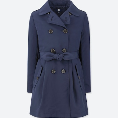 GIRLS TRENCH COAT, NAVY, medium