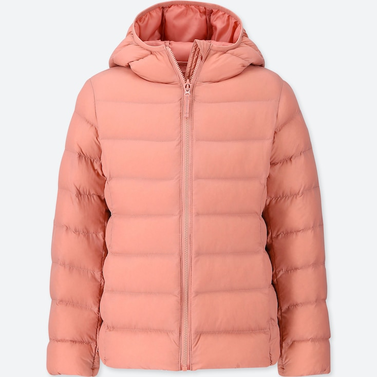 GIRLS LIGHT WARM PADDED HOODED PARKA