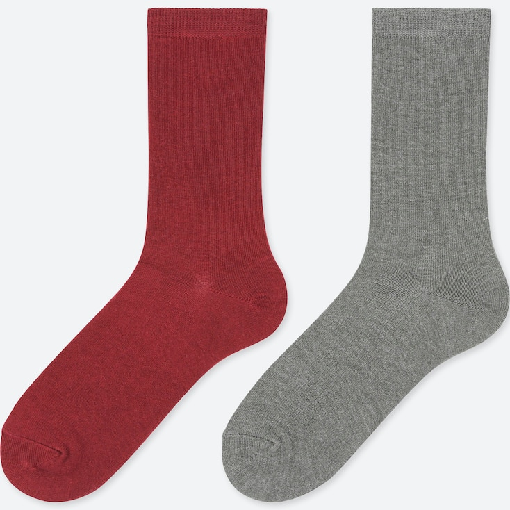WOMEN HEATTECH SOCKS (2 PAIRS), RED, large