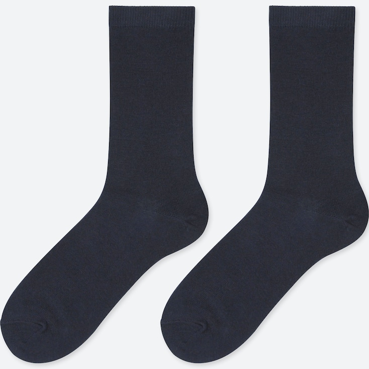WOMEN HEATTECH SOCKS (2 PAIRS), NAVY, large