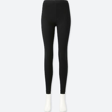 WOMEN HEATTECH PILE-LINED LEGGINGS, BLACK, medium