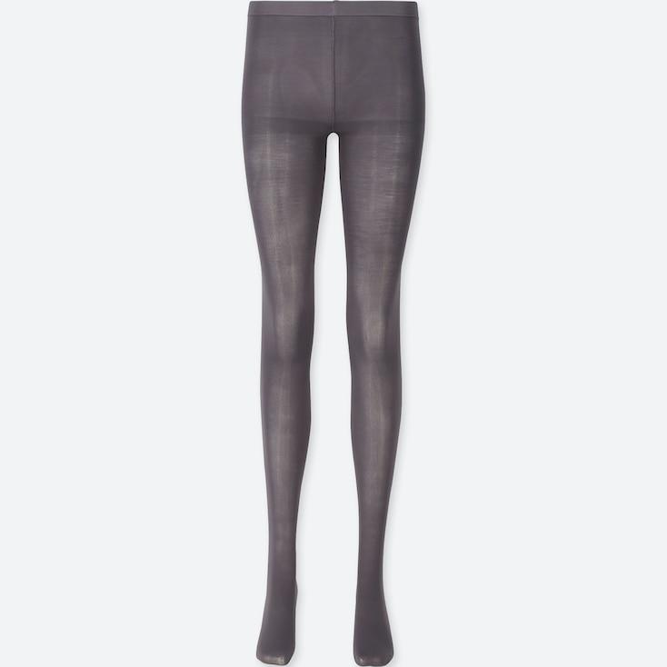 Women Heattech Tights, Dark Gray, Large