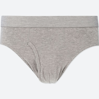 MEN SUPIMA® COTTON BRIEFS, GRAY, medium