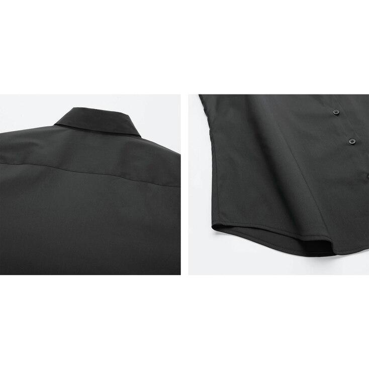 Women Supima© Cotton Stretch Long-Sleeve Shirt, White, Large