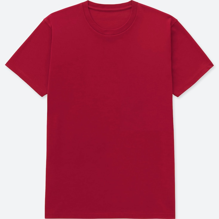 Men Packaged Dry Crew Neck Short-sleeve T-shirt, Red, Large
