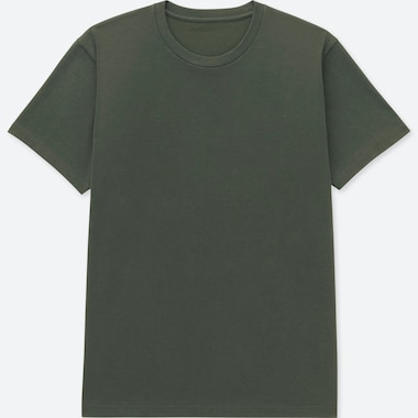 MEN PACKAGED DRY CREW NECK SHORT-SLEEVE T-SHIRT, DARK GREEN, medium