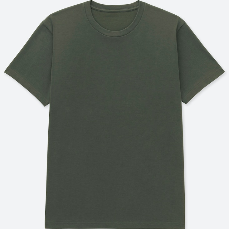 MEN PACKAGED DRY CREW NECK SHORT-SLEEVE T-SHIRT, DARK GREEN, large