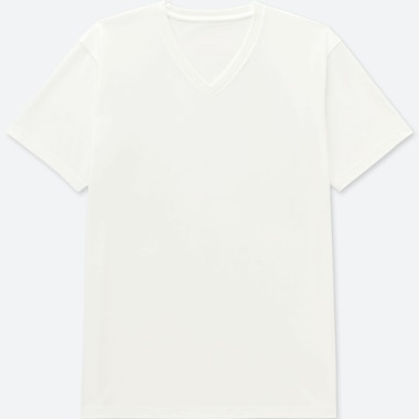 MEN PACKAGED DRY V-NECK SHORT-SLEEVE T-SHIRT, WHITE, medium