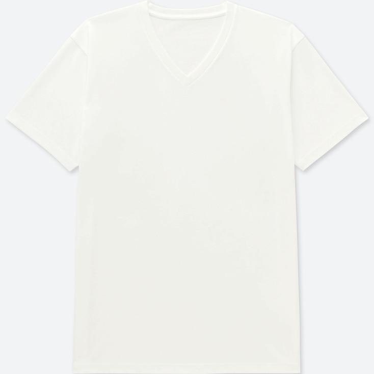 MEN PACKAGED DRY V-NECK SHORT-SLEEVE T-SHIRT, WHITE, large