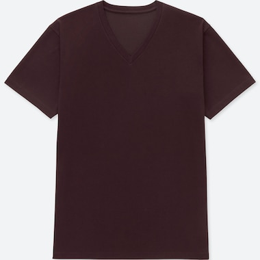 MEN PACKAGED DRY V-NECK SHORT-SLEEVE T-SHIRT, WINE, medium