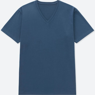 MEN PACKAGED DRY V-NECK SHORT-SLEEVE T-SHIRT, BLUE, medium