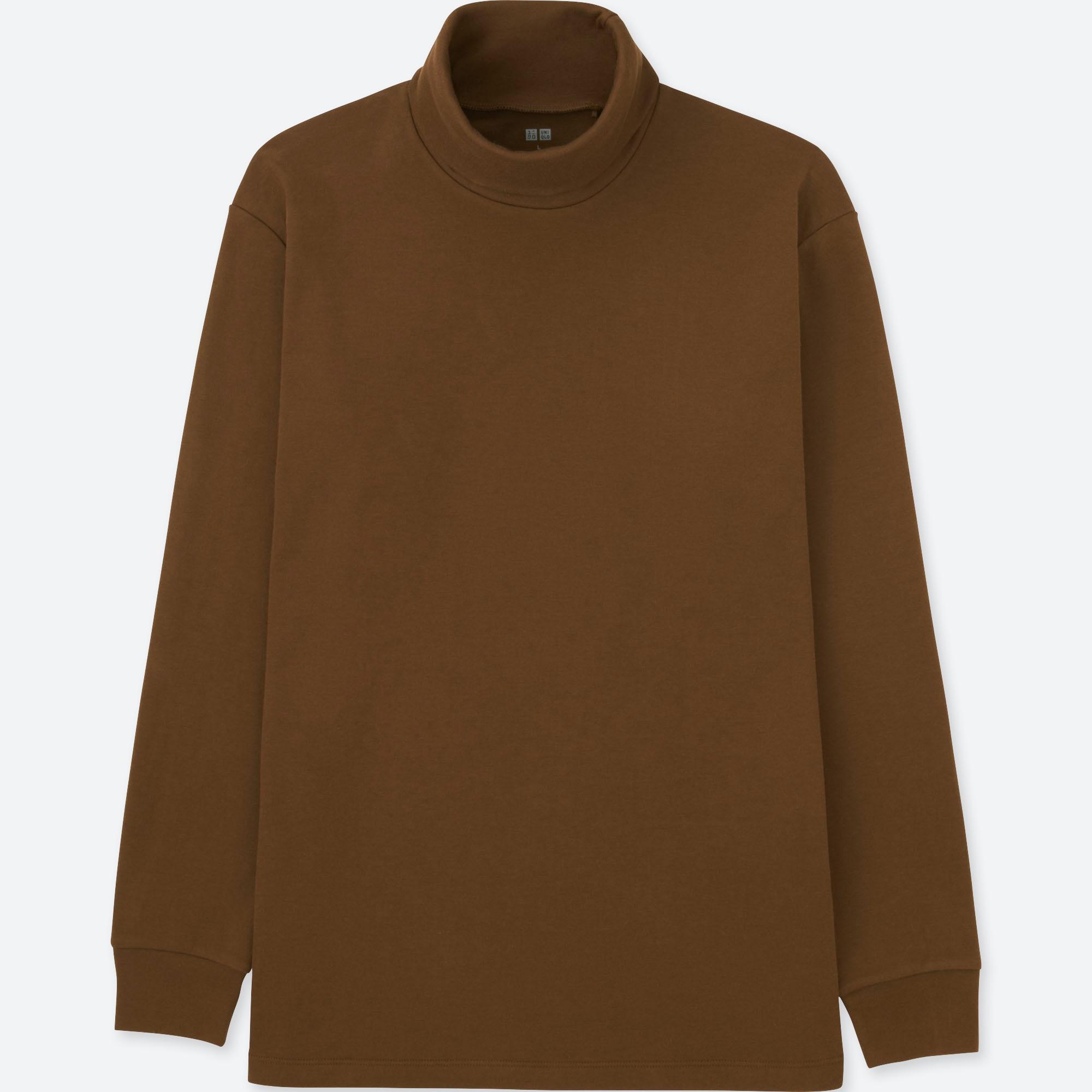 Men Soft Touch Turtleneck Long Sleeve T Shirt Uniqlo Us