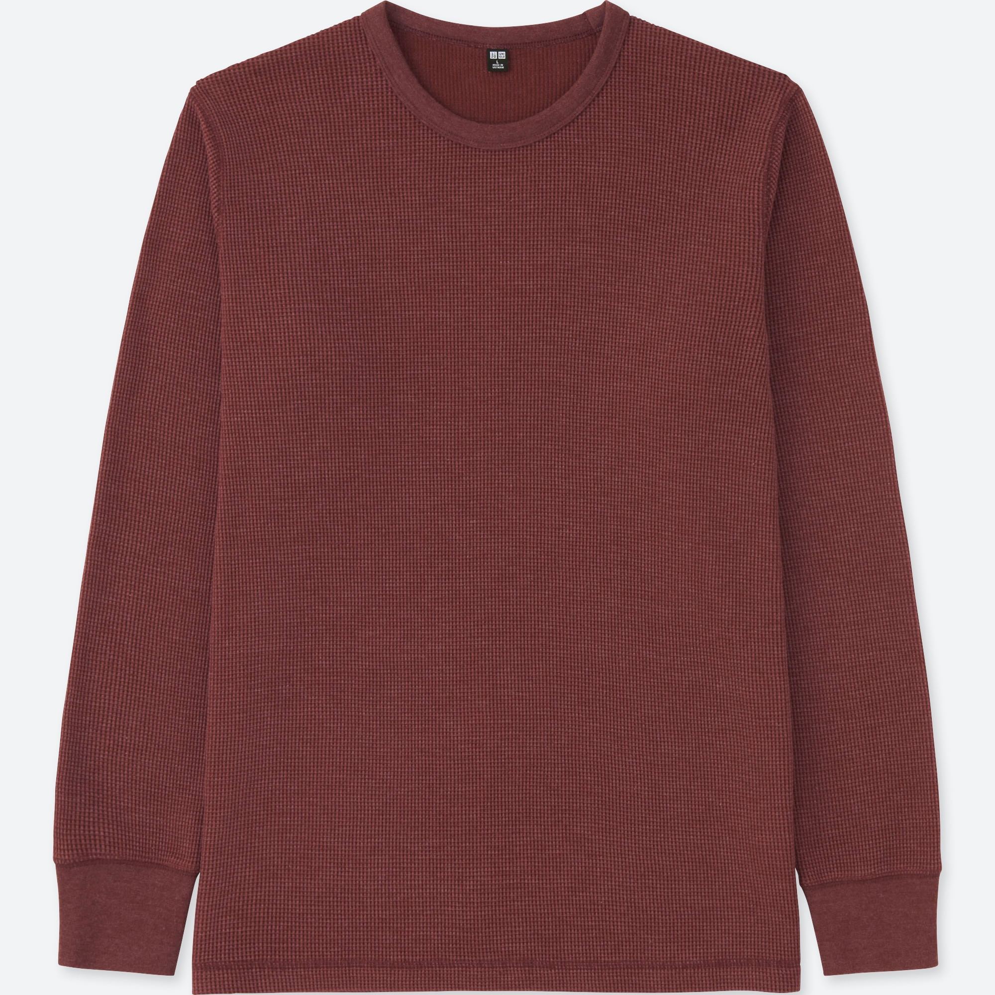 04c329dea MEN WAFFLE CREW NECK LONG-SLEEVE T-SHIRT | UNIQLO US