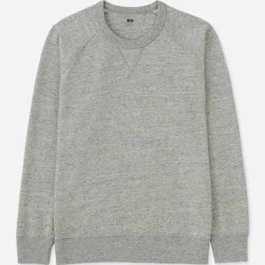 MEN LONG-SLEEVE SWEATSHIRT, GRAY, medium