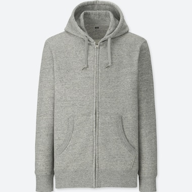 b081945ad MEN LONG-SLEEVE FULL-ZIP HOODED SWEATSHIRT, GRAY, medium