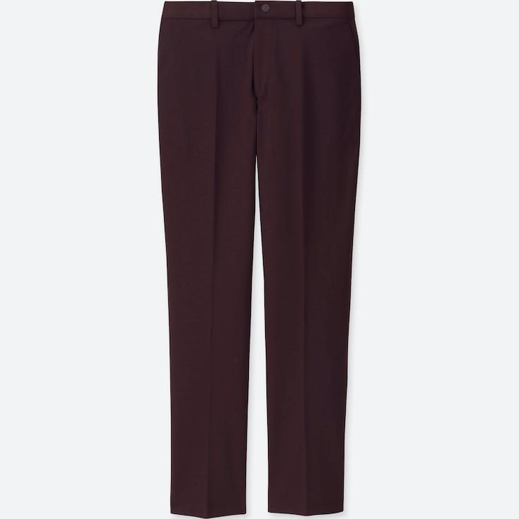 MEN EZY DRY-EX ANKLE-LENGTH PANTS, WINE, large