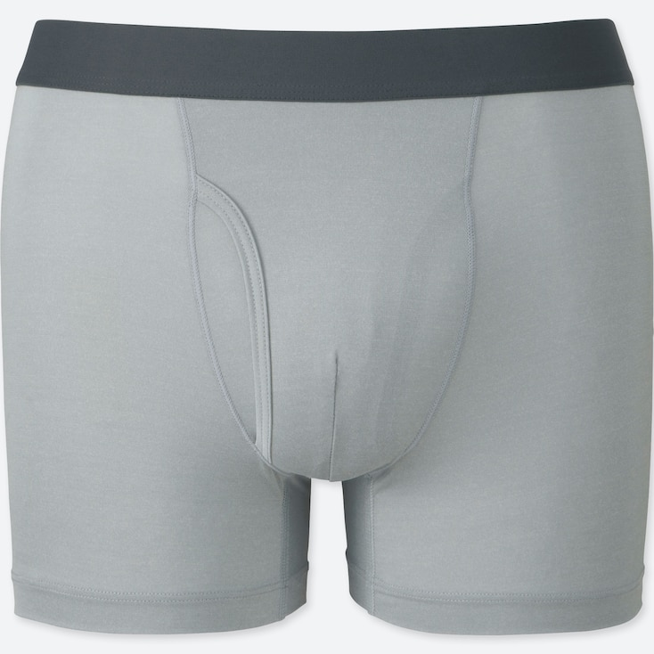 Men Airism Boxer Briefs, Light Gray, Large