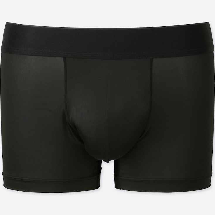 MEN AIRism LOW RISE BOXER BRIEFS, BLACK, large
