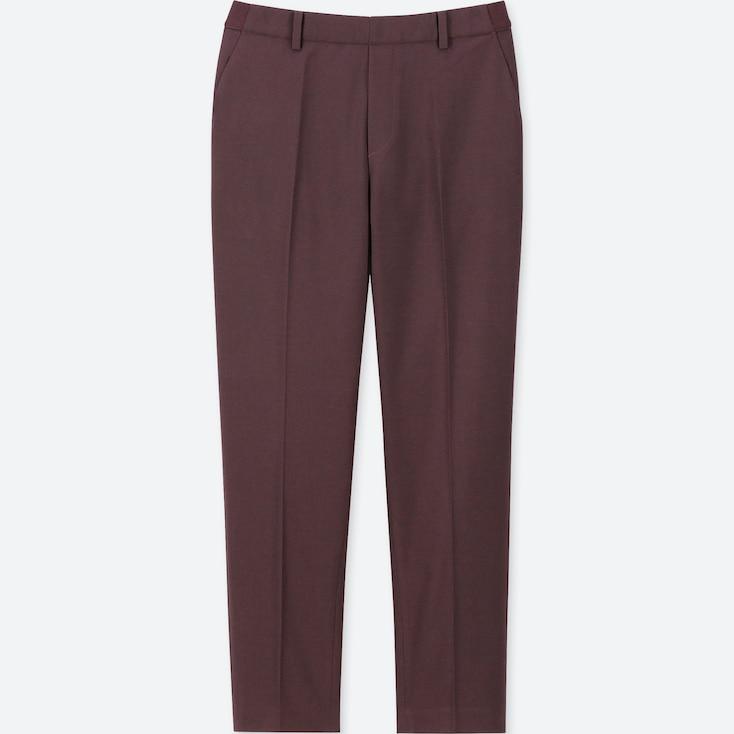 WOMEN EZY ANKLE-LENGTH PANTS, WINE, large