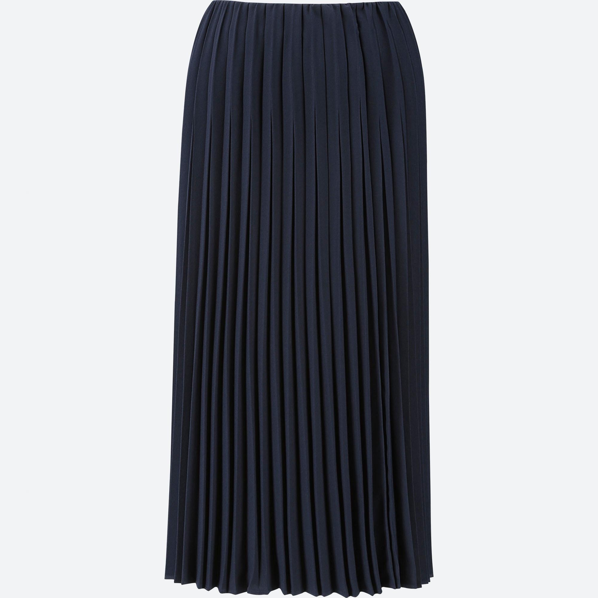 Women Pleated Jersey Long Skirt Skirts Bottoms Women Uniqlo