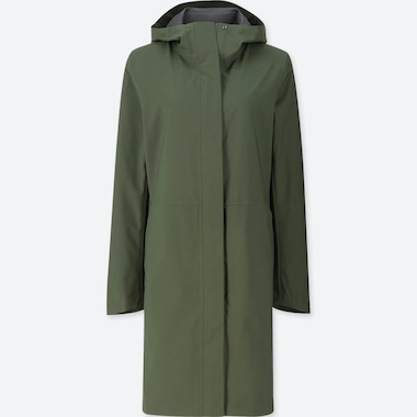 WOMEN BLOCKTECH COAT, DARK GREEN, medium