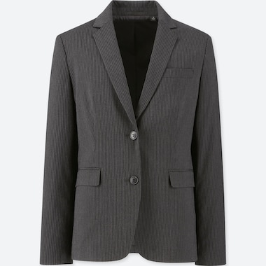 WOMEN STRETCH JACKET (ONLINE EXCLUSIVE), DARK GRAY, medium