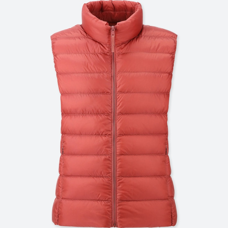 WOMEN ULTRA LIGHT DOWN VEST, RED, large