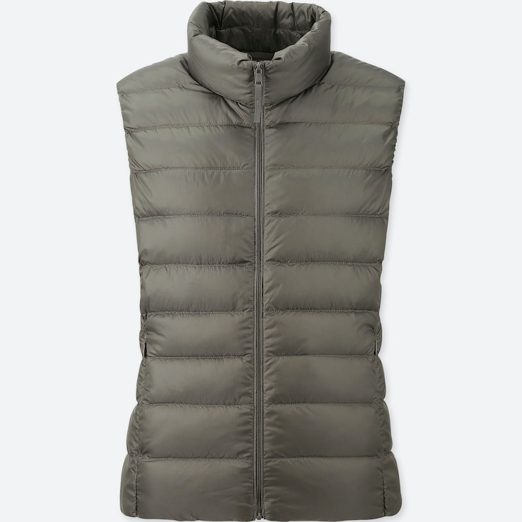 Women Ultra Light Down Vest, Olive, Large