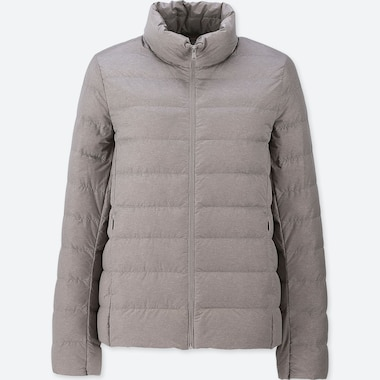 Women Ultra Light Down Jacket, Gray, Medium